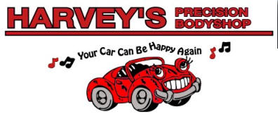 Harvey 39 s precision body shop collision repair painting for Harvey s paint and body